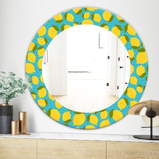 Lemon Bohemian and Eclectic Wall Mirror