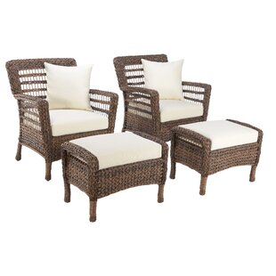Boyles 4 Piece Patio Chair Set with Cushions