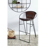 Lovejoy Tall Leather 24 Bar Stool by 17 Stories