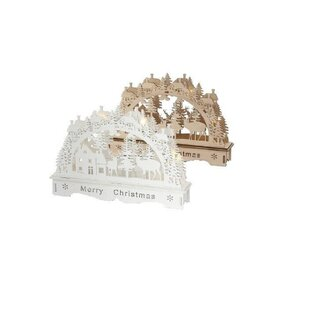 4 Warm White LED Candle Arch Lighted Window Décor By The Seasonal Aisle