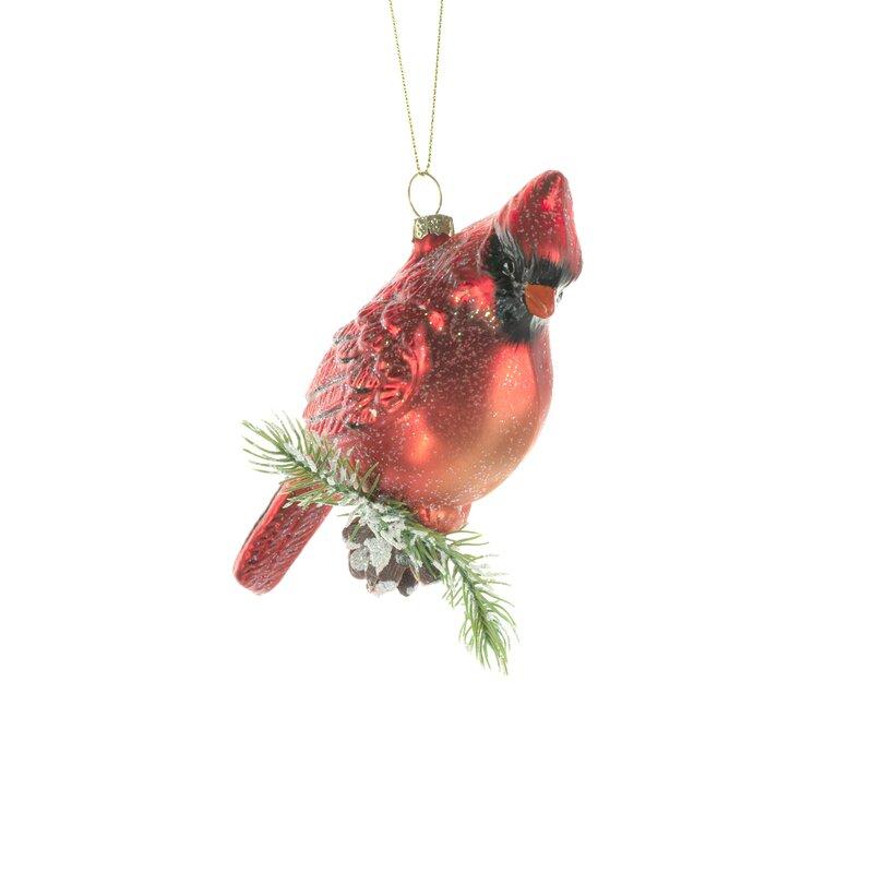 Jj S Holiday Gifts Ltd Cardinal On Pinecone Hanging Figurine Ornament Wayfair