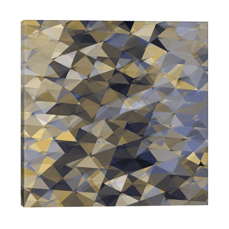East Urban Home Geometric Squared I Graphic Art Print On Canvas Wayfair