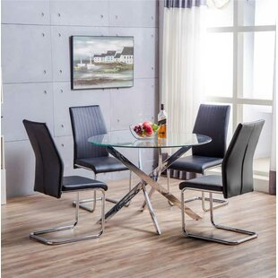 Raquel Dining Set with 4 Chairs & Round Dining Table Sets | Wayfair.co.uk