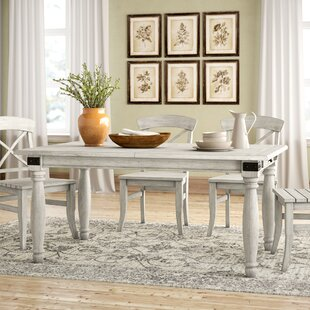 Calila White 7 Piece Extendable Solid Wood Dining Set
