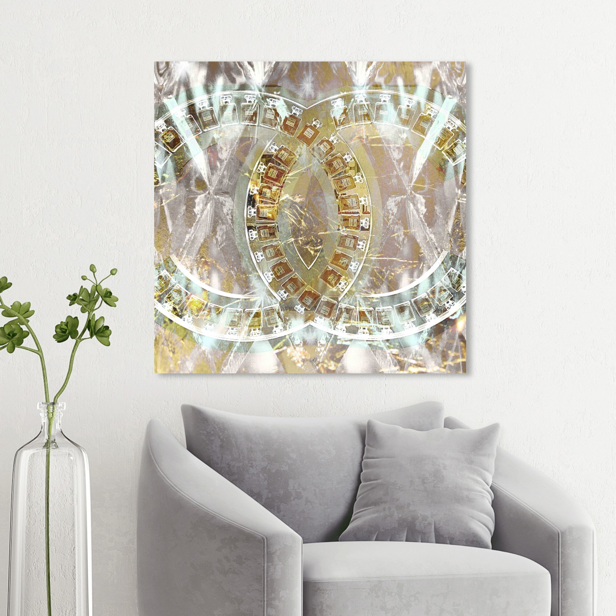 Oliver Gal Fashion And Glam Gilded Diamonds Perfumes Wrapped Canvas Graphic Art Print Wayfair