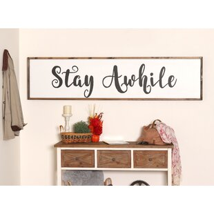 Extra Large Stay Awhile Sign Wall Décor