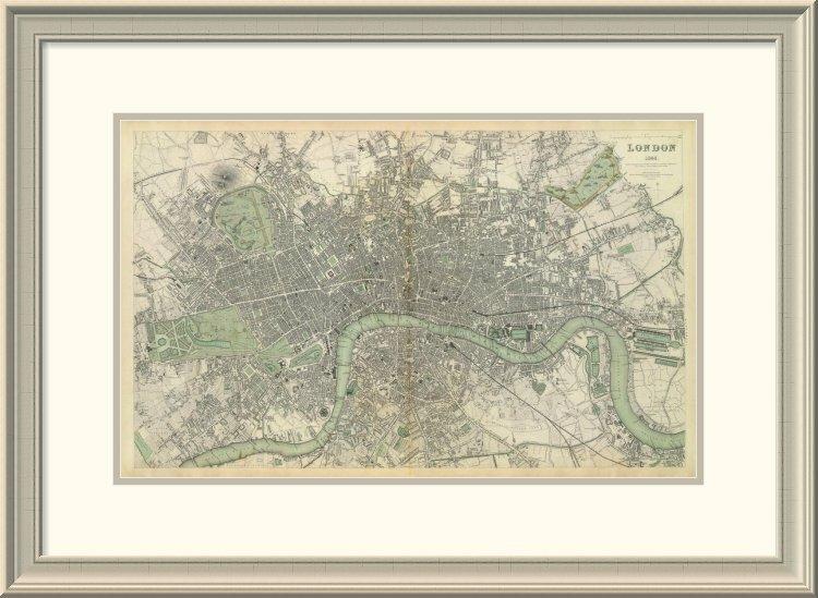 East Urban Home London England 1843 Framed Print Wayfair