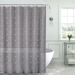 Order Mirtha Metallic Daisy Embroidered Sheer Shower Curtain Set By Red Barrel Studio