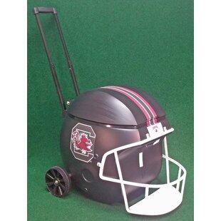 Coolr Coolrz 40 Qt. South Caolina Black Football Helmet Rolling Cooler