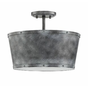 Wurth 3-Light LED Semi Flush Mount by Gracie Oaks
