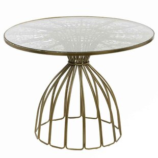 Bungalow Rose Cevenola Wire Work Dining T..