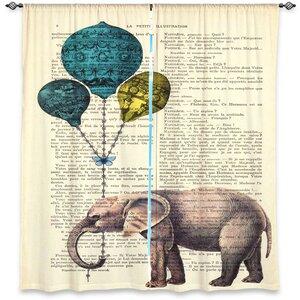 Animal Print Room Darkening Rod Pocket Curtain Panels (Set of 2)