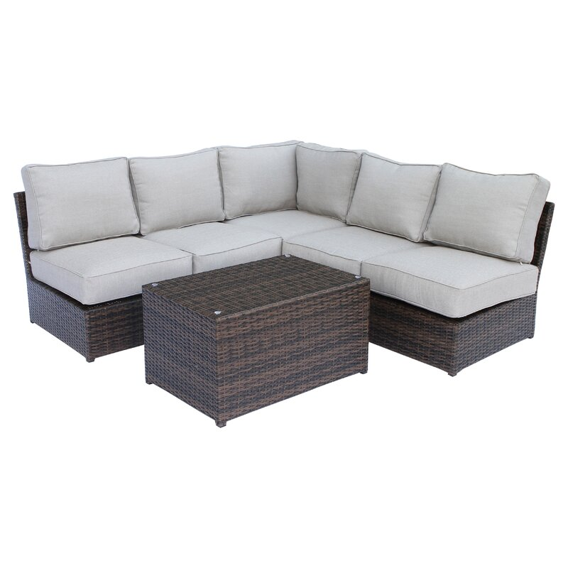 Brayden Studio Simmerman 6 Piece Sectional Set with Cushions ...