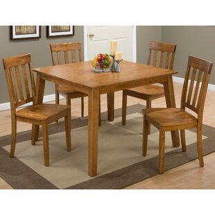 Wallis 5 Piece Drop Leaf Solid Wood Dining Set by August Grove