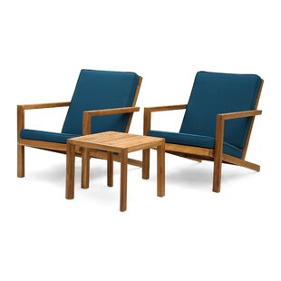Isabela Outdoor 3 Piece Set With Cushions by Millwood Pines Best #1
