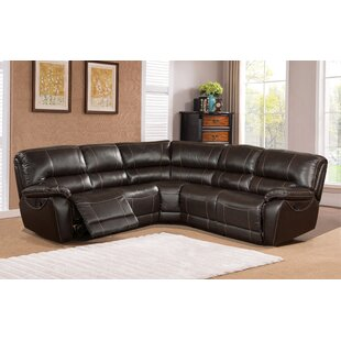 Winkelman Leather Reclining Sectional by Latitude Run