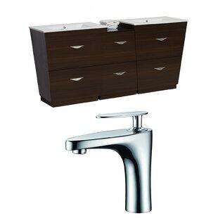 Vee 76 Double Bathroom Vanity Set by American Imaginations
