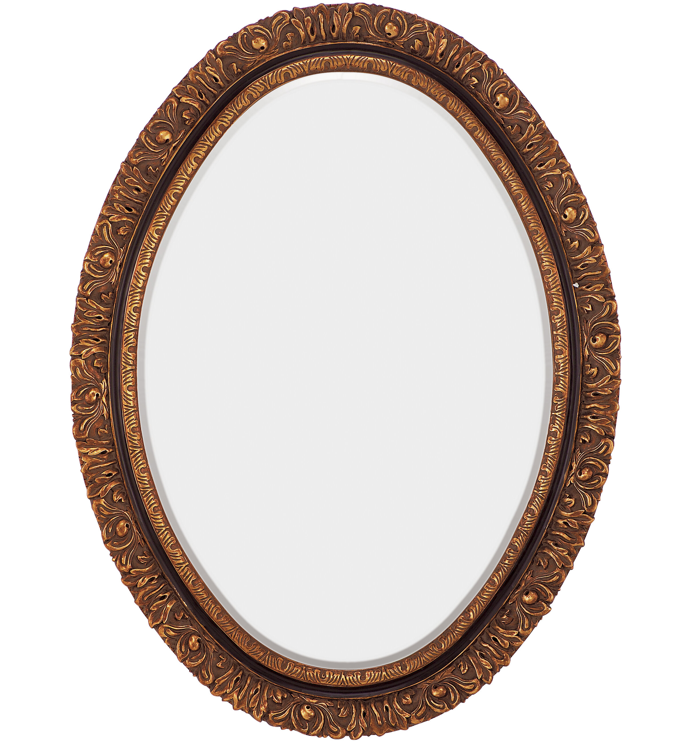 Majestic Mirror Traditional Oval Gold And Black Antique Beveled Gl Wall Wayfair