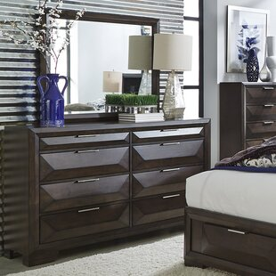 Richburg 8 Drawer Double Dresser with Mirror