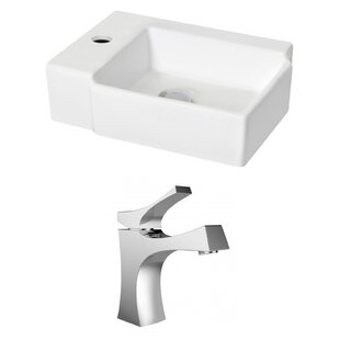 Top Reviews Ceramic 12 Wall Mount Bathroom Sink with Faucet and Overflow ByRoyal Purple Bath Kitchen