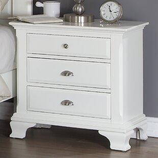 Winston Porter Shenk 3 Drawer Nightstand