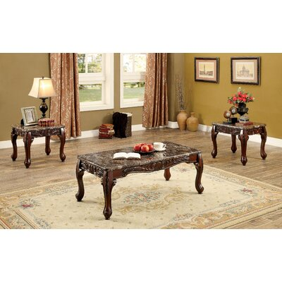astoria grand doory 3 piece coffee table set wayfair