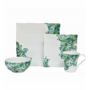 Surya 16 Piece Dinnerware Set Service for 4  sc 1 st  Wayfair : paisley dinnerware - Pezcame.Com