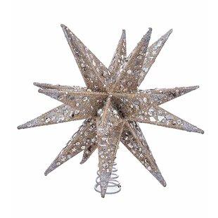 f9fe99dd22be9 Moravian Star Glitter Tree Topper