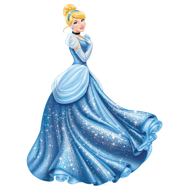 Popular Characters Disney Princess Cinderella Glamour Giant Wall Decal  sc 1 st  Wayfair & Room Mates Popular Characters Disney Princess Cinderella Glamour ...