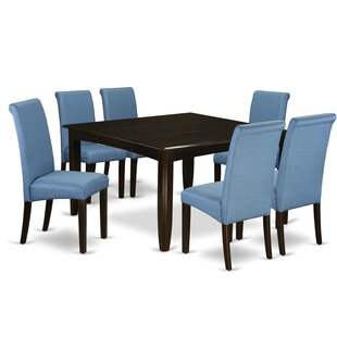 Marlene Square Kitchen Table 7 Piece Extendable Solid Wood Dining Set Winston Porter