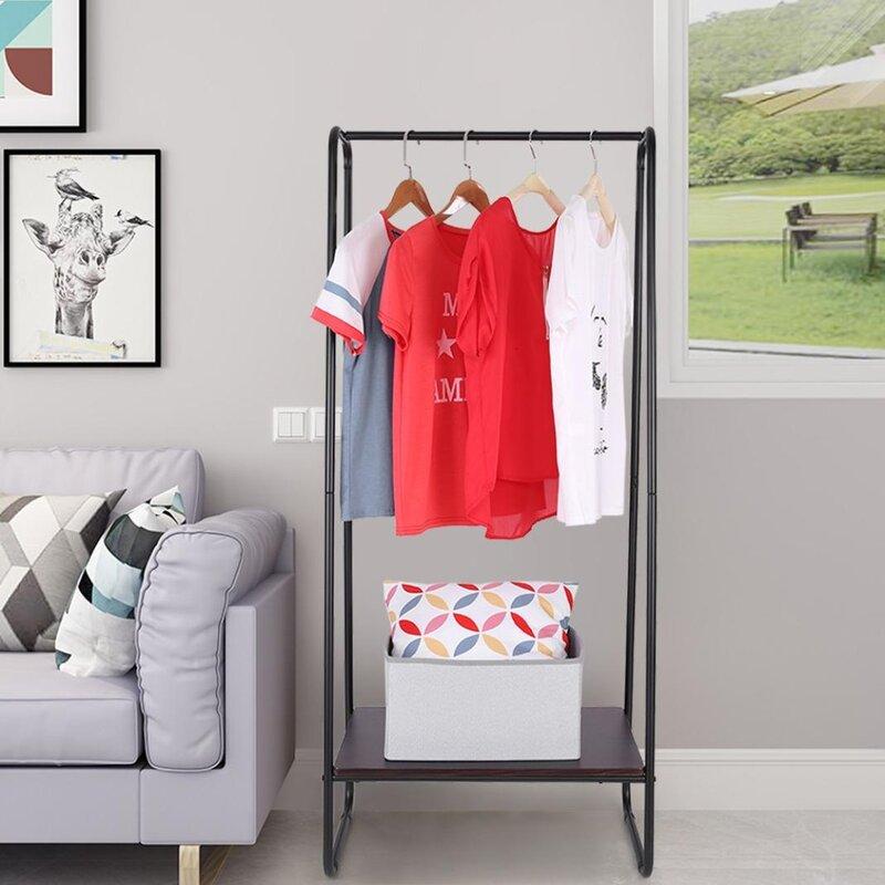 Latitude Run® Hanger Bedroom Shelf Storage Coat Rack | Wayfair