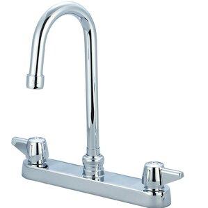 Central Brass Double Handle Centerset Kitchen Faucet