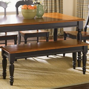 Harwood Wood Bench by Charlton Home