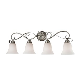 Fleur De Lis Living Wall 4-Light LED Vanity Light