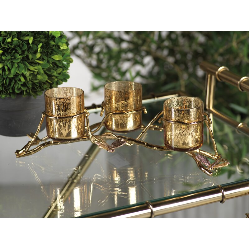 Le Prise 3 Tier Dragonfly Glass And Metal Votive Holder Wayfair