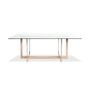 Kendra Dining Table with Glass Top by Eve..
