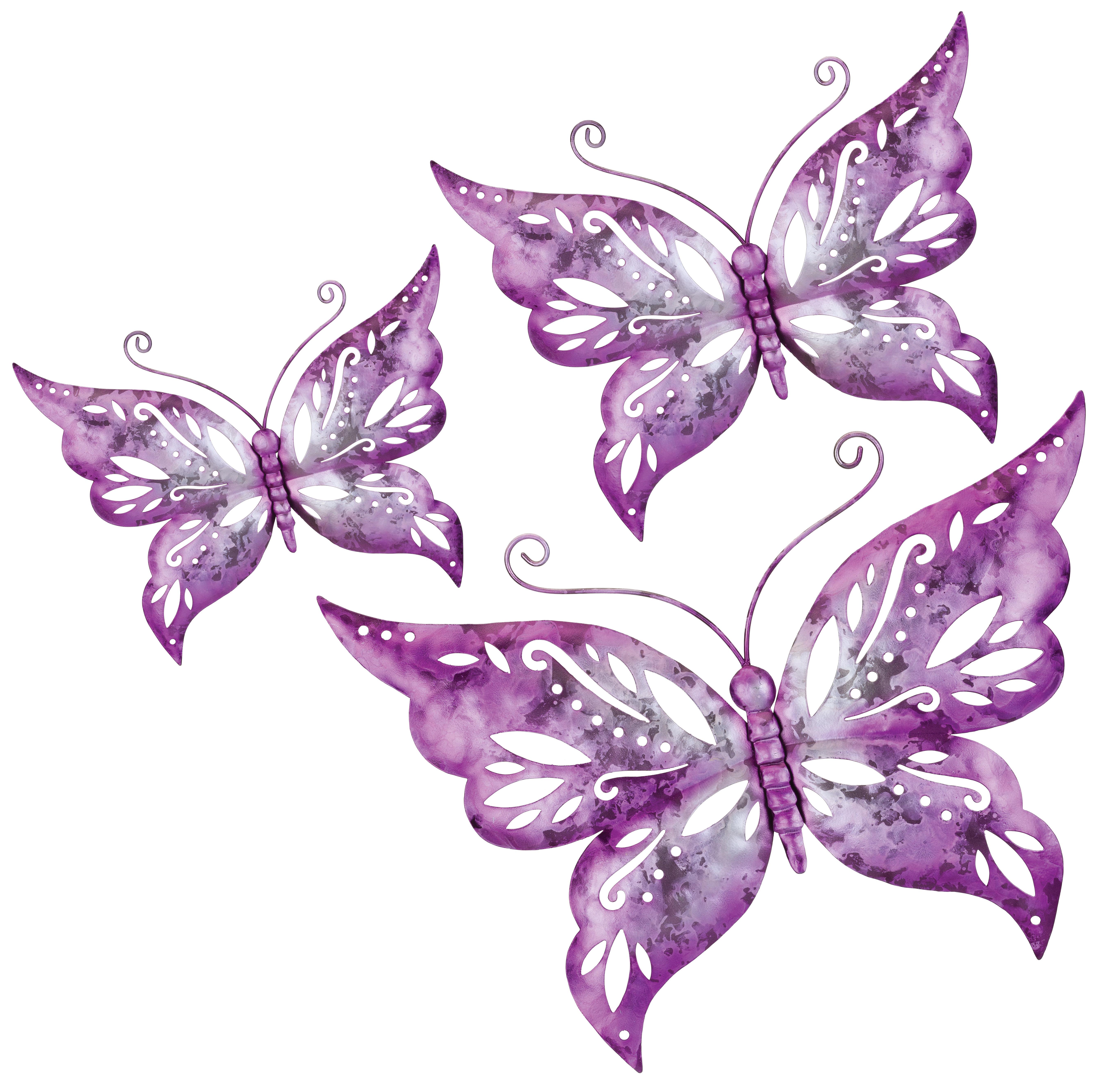 Regal Flower Bug Solar Stake in Butterfly Purple