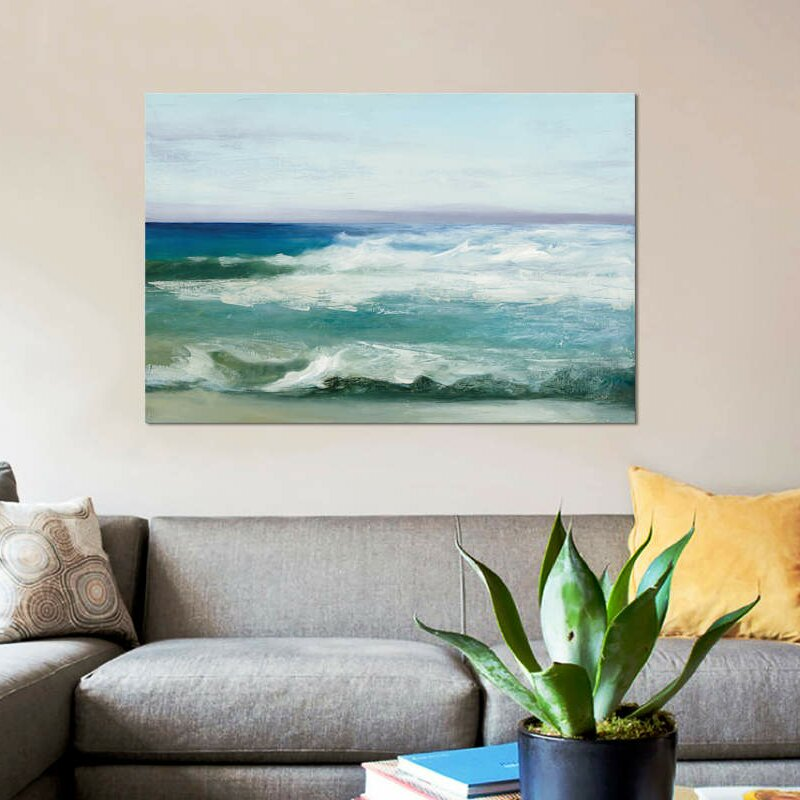 East Urban Home Azure Ocean Byjulia Purinton Graphic Art Print On Wrapped Canvas Wayfair