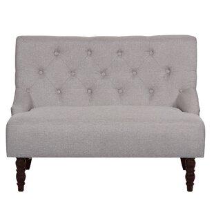 Nixa Tufted Linen Upholstered Loveseat