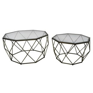 Dilorenzo 2 Piece Coffee Table Set by Wrought Studio