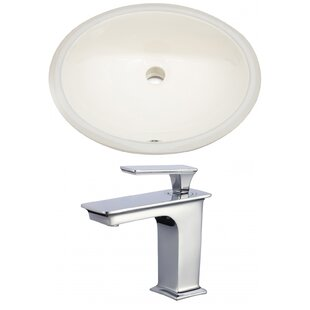 Buying CUPC Ceramic Oval Undermount Bathroom Sink with Faucet and Overflow ByRoyal Purple Bath Kitchen