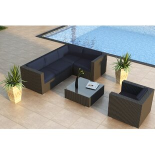 Azariah 5 Piece Sunbrella Sectional Set with Cushions by Orren Ellis