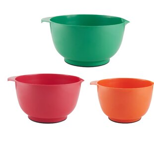 Classic 3 Piece Plastic Mixing Bowl Set