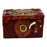 "Ebros Steampunk Mechanical Gears Clockwork Decorative Box Figurine 5"" L Science Fiction Time Waits For No Man Jewellery Box"
