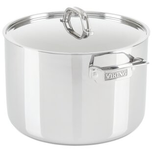 Viking® 3-Ply 12-qt. Stock Pot with Lid