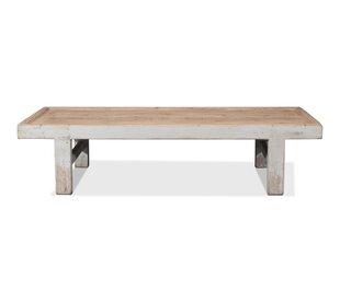 Large Wood Panel Coffee Table by Sarreid Ltd