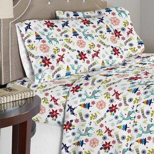 Contemporary 190 GSM 100% Cotton Sheet Set ByThe Holiday Aisle