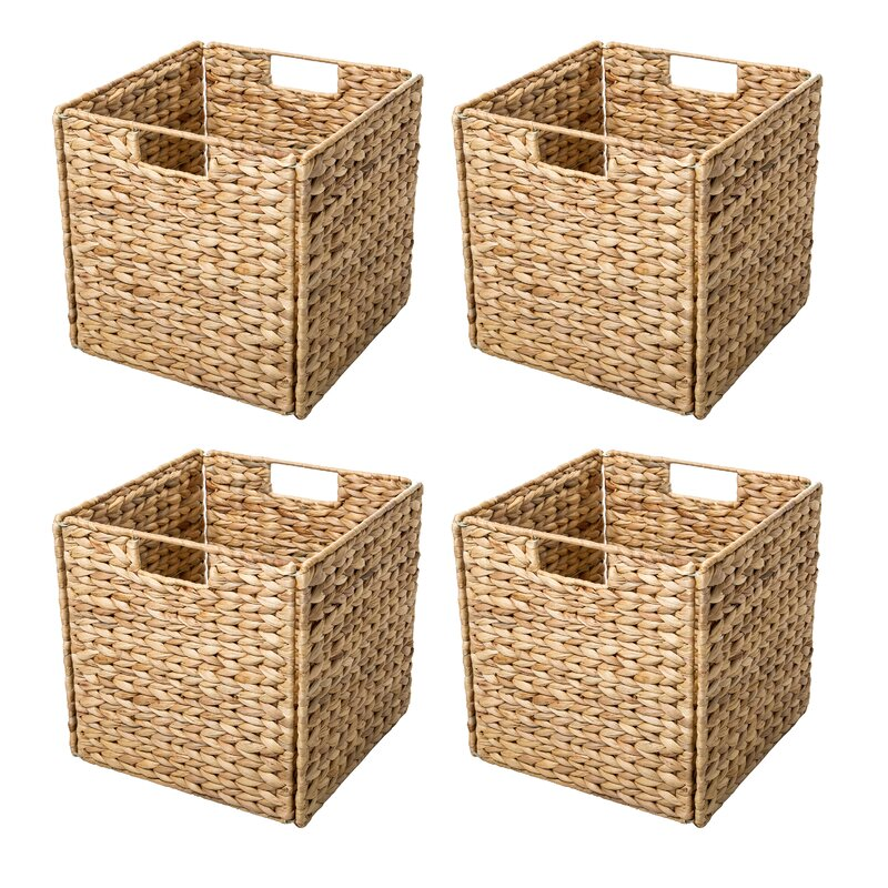 Hyacinth Foldable Storage Wicker Basket