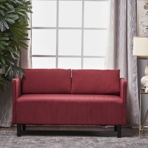 Ebern Designs Dempsey Fabric Loveseat Image
