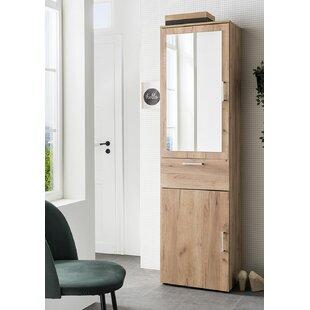 Demitri 50cm X 195cm Mirrored Free Standing Cabinet By Ebern Designs